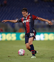 Calcio, Serie A: Lazio vs Bologna. Roma, stadio Olimpico, 22 agosto 2015.<br /> Bologna&rsquo;s Matteo Brighi in action during the Italian Serie A football match between Lazio and Bologna at Rome's Olympic stadium, 22 August 2015.<br /> UPDATE IMAGES PRESS/Isabella Bonotto