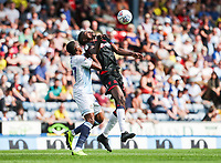 Bolton Wanderers' Sammy Ameobi competing with Blackburn Rovers' Amari'i Bell <br /> <br /> Photographer Andrew Kearns/CameraSport<br /> <br /> The EFL Sky Bet Championship - Blackburn Rovers v Bolton Wanderers - Monday 22nd April 2019 - Ewood Park - Blackburn<br /> <br /> World Copyright © 2019 CameraSport. All rights reserved. 43 Linden Ave. Countesthorpe. Leicester. England. LE8 5PG - Tel: +44 (0) 116 277 4147 - admin@camerasport.com - www.camerasport.com