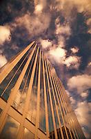 Reflection of clouds in Lloyd Tower glass, Portland, Oregon