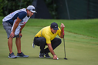 Patrick Reed (USA) lines up his putt on 12 during round 2 of the 2019 Tour Championship, East Lake Golf Course, Atlanta, Georgia, USA. 8/23/2019.<br /> Picture Ken Murray / Golffile.ie<br /> <br /> All photo usage must carry mandatory copyright credit (© Golffile | Ken Murray)