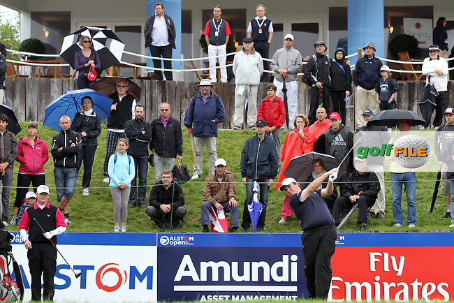 Shane Lowry (IRL) on the 1st on Day 3 of the Alstom Open de France at Golf National,  Saint-Quentin-En-Yvelines, Paris, France, 7/7/12...(Photo Jenny Matthews/www.golffile.ie)