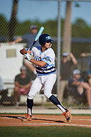 Chase Hughes during the WWBA World Championship at the Roger Dean Complex on October 19, 2018 in Jupiter, Florida.  Chase Hughes is a first baseman from Conway, South Carolina who attends Carolina Forest High School and is committed to Presbyterian.  (Mike Janes/Four Seam Images)