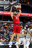 Washington, DC - MAR 10, 2018: Davidson Wildcats forward Will Magarity (22) with a slam dunk during semi final match up of the Atlantic 10 men's basketball championship between Davidson and St. Bonaventure at the Capital One Arena in Washington, DC. (Photo by Phil Peters/Media Images International)
