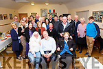 Lynne Purchase & David Wells seated front left & centre celebrated their joint 60th birthdays in the Glen Community Centre with family and friends on Saturday night.