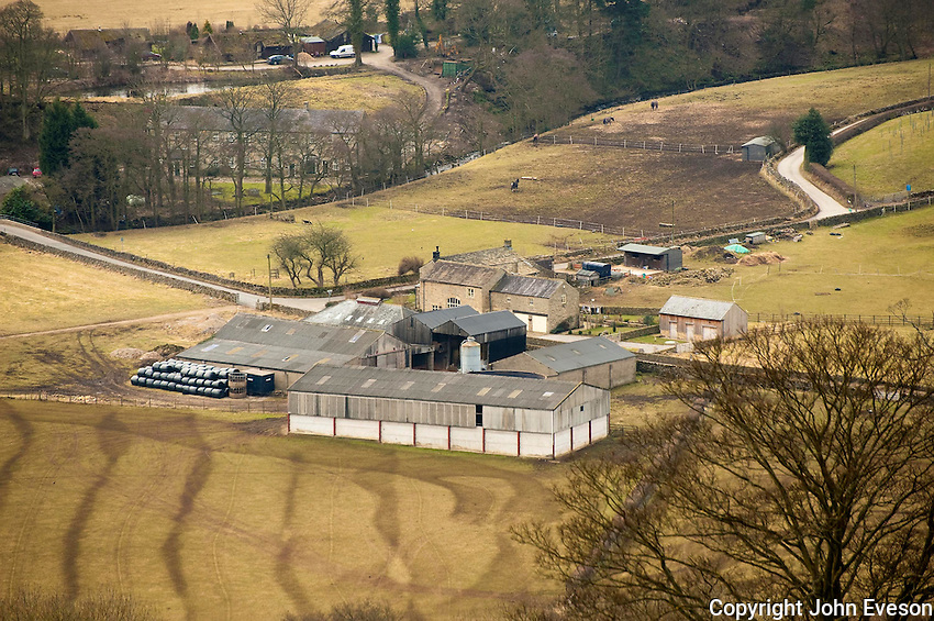 Distance picture of a North Yorkshire farmstead, Howgill.