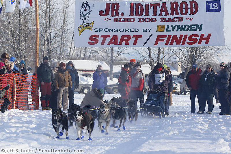 Saturday February 25, 2012   at Knik Lake during the Junior Iditarod start.  Jenny Greger.