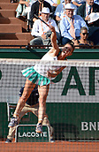 8th June 2017, Roland Garros, Paris, France; French Open tennis championships;  Simona Halep (Rom) as she beats Kristyna Pliskova  (CZE) in her ladies singles semi-final match