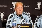 05 December 2013: Jimmy Nielsen (DEN). Sporting Kansas City held a press conference at the Three Points Club in Kansas City, Missouri two days before playing Real Salt Lake in MLS Cup 2013.