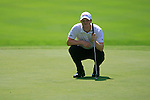 David Horsey (ENG) lines up his putt on the 5th green during Day 3 of the BMW Italian Open at Royal Park I Roveri, Turin, Italy, 11th June 2011 (Photo Eoin Clarke/Golffile 2011)