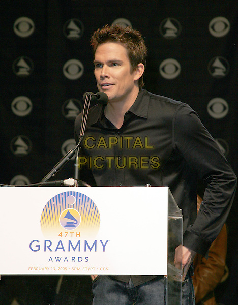 MARK McGRATH.The 47th Annual Grammy Award Nominees Announcements. The announcements were held at The Music Box in Hollywood, California .December 7th, 2004.half length, podium, speech, public speaking.www.capitalpictures.com.sales@capitalpictures.com.Supplied By Capital PIctures