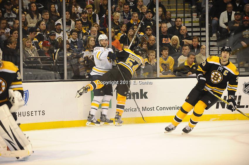 Boston Bruins host the Buffalo Sabres at TD Garden November 12, 2011. Final Bruins 6  Sabres 2...
