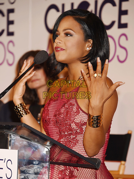BEVERLY HILLS, CA - NOVEMBER 03: Singer/actress Christina Milian attends the People's Choice Awards 2016 - Nominations Press Conference at The Paley Center for Media on November 3, 2015 in Beverly Hills, California.<br /> CAP/ROT/TM<br /> &copy;TM/ROT/Capital Pictures