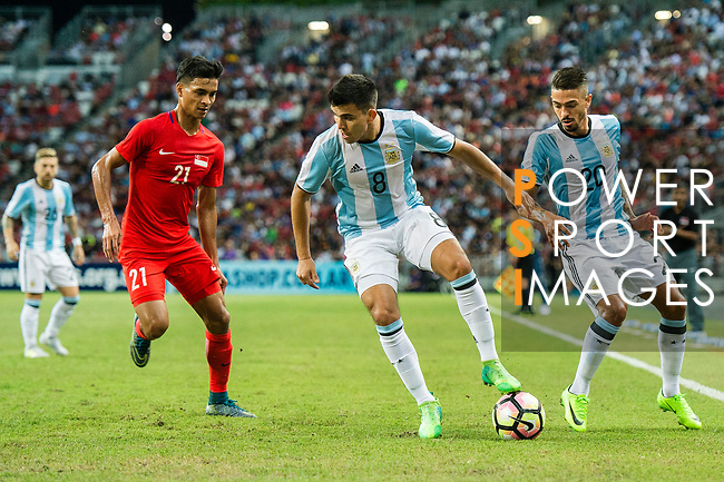Marcos Acuna of Argentina (C) during the International Test match between Argentina and Singapore at National Stadium on June 13, 2017 in Singapore. Photo by Marcio Rodrigo Machado / Power Sport Images