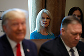 Senior Counselor Kellyanne Conway attends a Cabinet Meeting at the White House in Washington, DC on October 21, 2019.<br /> Credit: Yuri Gripas / Pool via CNP