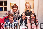 My Party<br /> ----------<br /> michelle Roche,Marian Pk,Tralee sits between Val prenderville and Caroline Brosnan on the occasion of her birthday last Saturday night (back) L-r AnnMarie Prenderville and Breda Griffin.