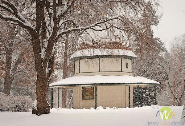 Brandon Park Pagoda In Winter Snow Williamsport PA