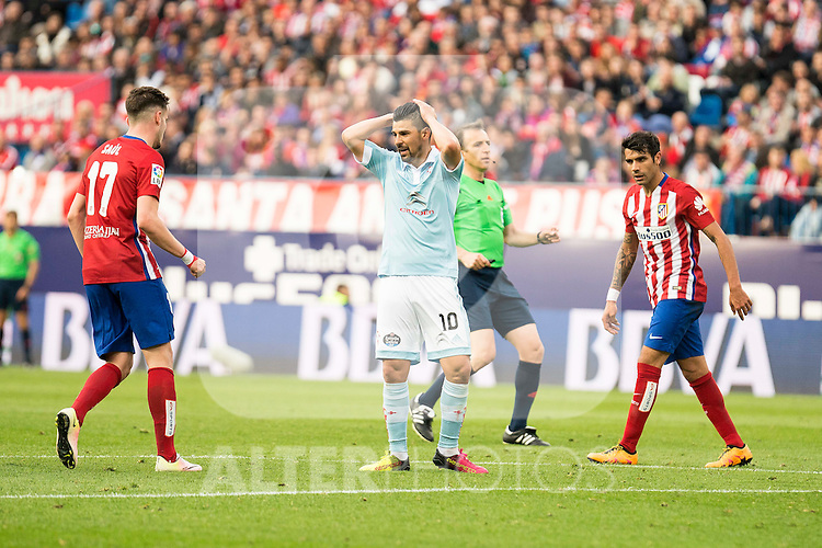 Celta de Vigo's Nolito during La Liga Match at Vicente Calderon Stadium in Madrid. May 14, 2016. (ALTERPHOTOS/BorjaB.Hojas)