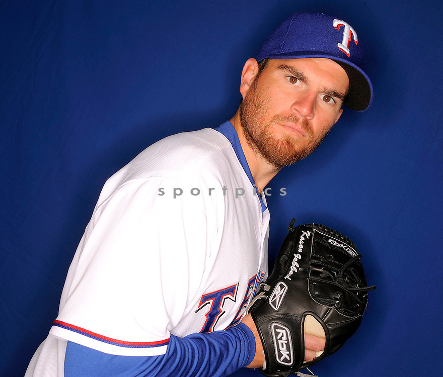 KASON GABBARD, of the Texas Rangers, during photo day of spring training and the Ranger's training camp in Surprise, Arizona on February 24, 2009.