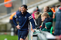 Bristol Bears Strength and Conditioning Coach Sam Dodge looks on during the pre-match warm-up. Gallagher Premiership match, between Leicester Tigers and Bristol Bears on April 27, 2019 at Welford Road in Leicester, England. Photo by: Patrick Khachfe / JMP