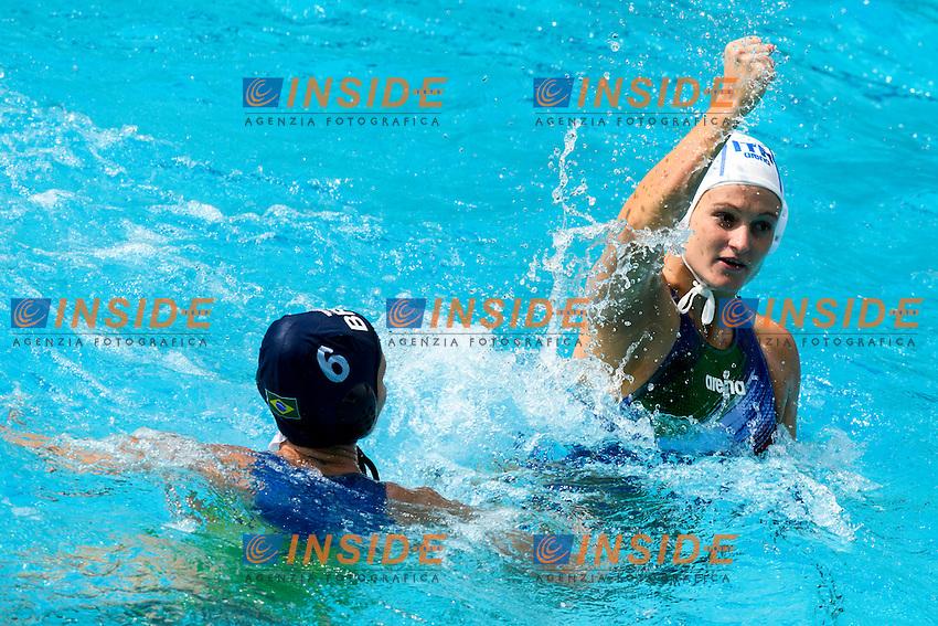 QUEIROLO Elisa ITA Esultanza <br /> Rio de Janeiro 09-08-2016 Maria Lenka Aquatics Center  <br /> Waterpolo Italy Brazil Women ITA - BRA <br /> Foto Andrea Staccioli/Deepbluemedia/Insidefoto