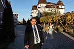 Romania, Tirgu Jiu - Portrait of Ninel Potirca, one of the wealthiest ROMa people in Romania.