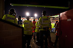 Walsall 1 Chelsea 4, 23/09/2015. Bescot Stadium, Capital One Cup Third Round. League One Walsall host struggling Premier League Chelsea. After drawing the Londoners, Saddlers supporters sold out the Bescot Stadium hoping for an upset. The match was watched by 10,525. Police and stewards monitor proceedings. Photos by Simon Gill.