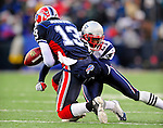 28 December 2008: New England Patriots' cornerback Deltha O'Neal (21) defends a pass attempt in the fourth quarter against the Buffalo Bills at Ralph Wilson Stadium in Orchard Park, NY. The Patriots kept their playoff hopes alive defeating the Bills 13-0 in their 16th win against Buffalo of their past 17 meetings. ***** Editorial Use Only ******..Mandatory Photo Credit: Ed Wolfstein Photo