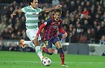 11.12.2013 Barcelona, Spain. UEFA Champions League, Group H Matchday 6. Picture show Neymar da Silva Santos Júnior (L) and Efe Ambrose (R)  in action during game between FC Barcelona Against Celtic at Camp Nou
