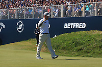 Richie Ramsay (SCO) finishes with a birdie on the 18th green during Round 4 of the Betfred British Masters 2019 at Hillside Golf Club, Southport, Lancashire, England. 12/05/19<br /> <br /> Picture: Thos Caffrey / Golffile<br /> <br /> All photos usage must carry mandatory copyright credit (© Golffile | Thos Caffrey)