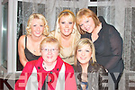 LADIES NIGHT OUT: Ladies attending the Gael Scoil, Lios Tuathaill dance in The Listowel Arms Hotel on Friday night were front l-r: Kathleen Brick and Ciara Allen.  Back l-r: Sophie Conway, Janet O'Sullivan and Sharon Brick.   Copyright Kerry's Eye 2008