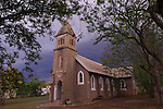 COLENSO - 23 November 2014 - Couds gather over St Henry's Catholic Church in Colenso. Picture: Allied Picture Press/APP