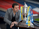 William Hill Scottish Cup 5th Round draw. Hampden Park: Dundee manager Paul Hartley