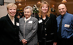 NAUGATUCK, CT-03 FEBRUARY 2004 -020305JS09- Mary Connolly, Anna Lee Van Allen, one of the founders of the United Way of Naugatuck & Beacon Falls, executive director Lisa Shappy and Scott Shappy at the United Way's annual meeting and awards ceremony held Thursday at Leary's Crystal Room in Naugatuck.--United Way of Naugatuck & Beacon Falls; Mary Connolly; Anna Lee Van Allen, Lisa Shappy, Scott Shappy--Jim Shannon Photo