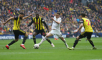 Wolverhampton Wanderers' Diogo Jota bursts into the Watford penalty area<br /> <br /> Photographer Rob Newell/CameraSport<br /> <br /> Emirates FA Cup Semi-Final  - Watford v Wolverhampton Wanderers - Sunday 7th April 2019 - Wembley Stadium - London<br />  <br /> World Copyright © 2019 CameraSport. All rights reserved. 43 Linden Ave. Countesthorpe. Leicester. England. LE8 5PG - Tel: +44 (0) 116 277 4147 - admin@camerasport.com - www.camerasport.com