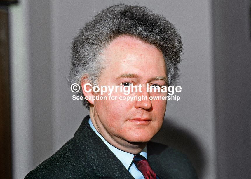 Clifford Smyth, Belfast, N Ireland, prominent member, Ulster Unionist party, 19860305CS<br />