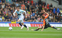 Blackburn Rovers' Joe Rothwell under pressure from Swansea City's George Byers<br /> <br /> Photographer Kevin Barnes/CameraSport<br /> <br /> The EFL Sky Bet Championship - Blackburn Rovers v Swansea City - Sunday 5th May 2019 - Ewood Park - Blackburn<br /> <br /> World Copyright © 2019 CameraSport. All rights reserved. 43 Linden Ave. Countesthorpe. Leicester. England. LE8 5PG - Tel: +44 (0) 116 277 4147 - admin@camerasport.com - www.camerasport.com