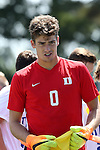 28 August 2016: Duke's Ben Hummel. The Duke University Blue Devils hosted the University of North Carolina Asheville Bulldogs at Koskinen Stadium in Durham, North Carolina in a 2016 NCAA Division I Men's Soccer match. Duke won the game 5-1.
