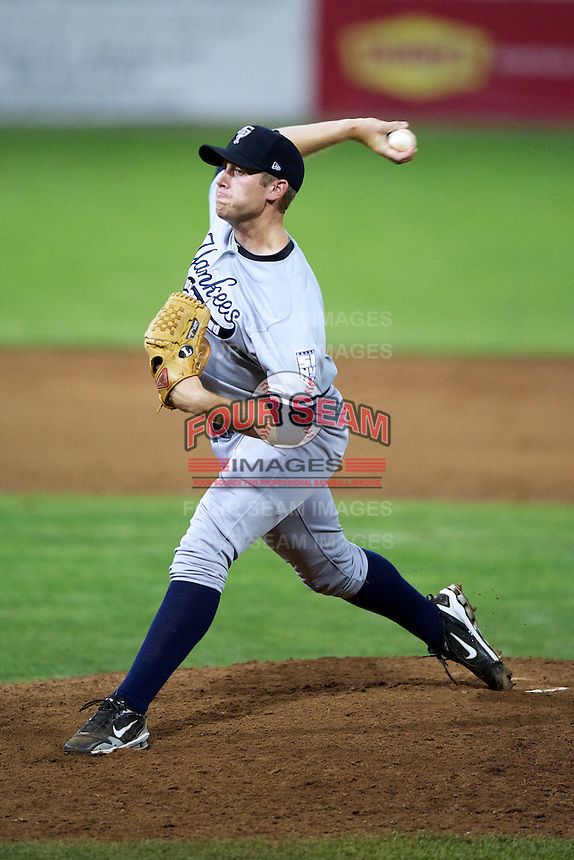 Staten Island Yankees pitcher Derek Varnadore #55 during a game against the Batavia Muckdogs at Dwyer Stadium on July 30, 2012 in Batavia, New York.  Batavia defeated Staten Island 5-4 in 11 innings.  (Mike Janes/Four Seam Images)