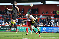 Matthew Godden of Stevenage `heads wide during Stevenage vs Cambridge United, Sky Bet EFL League 2 Football at the Lamex Stadium on 14th April 2018