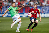 Carlos Clerc (defender; CA Osasuna) during the Spanish <br /> la League soccer match between CA Osasuna and Almeria at Sadar stadium, in Pamplona, Spain, on Saturday, <br /> September 8, 2018.