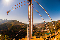 The Giant Canyon Swing (1,300 feet above the Colorado River), Glenwood Caverns Adventure Park, Glenwood Springs, Colorado USA