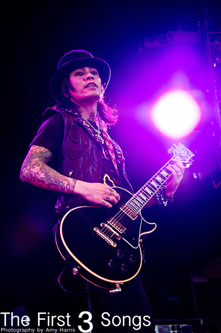 Stevie D. of Buckcherry performs at the Klipsch Music Center in Indianapolis, IN.