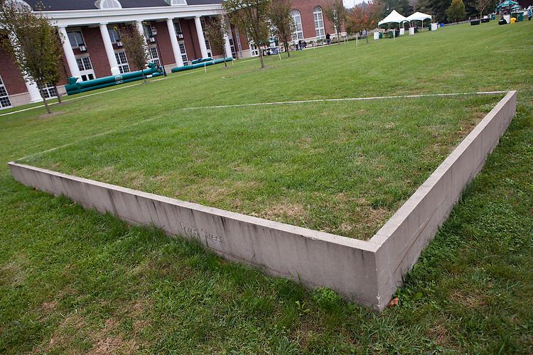 """Input"" by Maya Lin at Bicentennial Park at Ohio University on October 12, 2013."