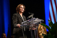 Washington, DC - January 2, 2015: Councilmember Mary Cheh delivers her speech after taking the oath of office during the 2015 inauguration ceremony held at the Washington Convention Center, January 2, 2015. Cheh has served Ward 3 as an elected member of the Council since 2007. (Photo by Don Baxter/Media Images International)