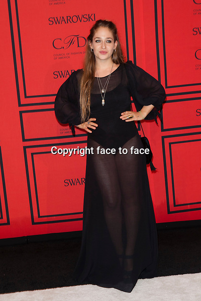 NEW YORK, NY - JUNE 3: Jemima Kirke at the 2013 CFDA Fashion Awards at Lincoln Center's Alice Tully Hall in New York City. June 3, 2013. <br /> Credit: MediaPunch/face to face<br /> - Germany, Austria, Switzerland, Eastern Europe, Australia, UK, USA, Taiwan, Singapore, China, Malaysia, Thailand, Sweden, Estonia, Latvia and Lithuania rights only -