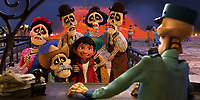 Coco (2017)<br /> In Disney&bull;Pixar&rsquo;s &ldquo;Coco,&rdquo; Miguel (voice of newcomer Anthony Gonzalez) finds himself magically transported to the stunning and colorful Land of the Dead where he meets his late family members, who are determined to help him find his way home. <br /> *Filmstill - Editorial Use Only*<br /> CAP/KFS<br /> Image supplied by Capital Pictures