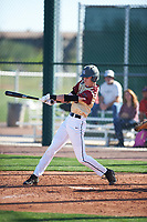Zachary Fritts (5) of Lenoir City High School in Lenoir City, Tennessee during the Baseball Factory All-America Pre-Season Tournament, powered by Under Armour, on January 13, 2018 at Sloan Park Complex in Mesa, Arizona.  (Zachary Lucy/Four Seam Images)