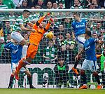 29.04.18 Celtic v Rangers: Jak Alnwick and Tom Rogic