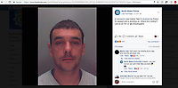 "Pictured: The exchange of message between Martin Tate and North Wales Police on facebook<br /> Re: Police have traded banter with an on-the-run suspect who taunted officers online.<br /> Martin Tate, 31, from Caernarfon, Gwynedd, is wanted over an alleged assault.<br /> North Wales Police posted a ""where is he hiding"" message on Facebook - and the wanted man replied: ""Can't catch me, hahaha... see who has the last laugh now.""<br /> Officers responded: ""You can run but you can't hide. See you soon.""<br /> The online war of words has been liked by hundreds of people, with others leaving comments.<br /> ""Shouldn't laugh - but this is funny,"" replied one poster, while another commented: ""Best game of hide and seek ever"".<br /> North Wales Police has asked anyone with information about Mr Tate's whereabouts to contact them."