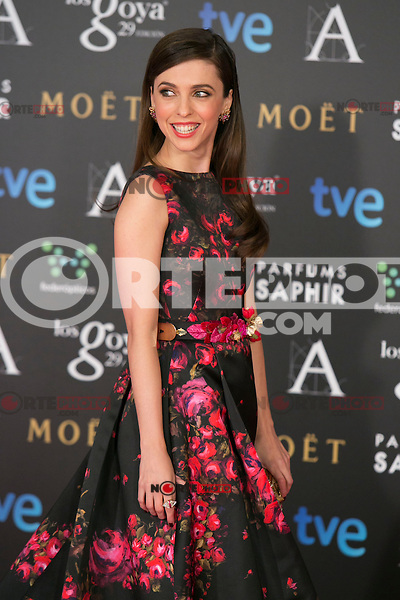 Leticia Dolera attend the 2015 Goya Awards at Auditorium Hotel, Madrid,  Spain. February 07, 2015.(ALTERPHOTOS/)Carlos Dafonte) /NORTEphoto.com